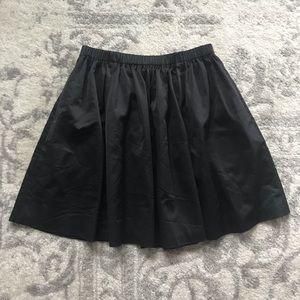 Kate Spade Black Satin A-Line Skirt M